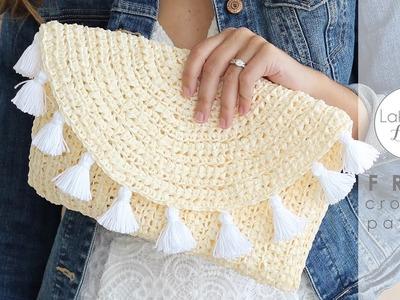 Evelyn Clutch FREE crochet pattern video tutorial