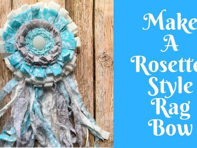 Everyday Crafting: How To Make A Rosette Style Rag Bow