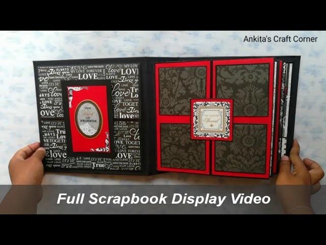 Full Scrapbook Display Video   Scrapbook Ideas   anniversary scrapbook