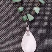 Genuine Jade and Rose Quartz necklace 154825