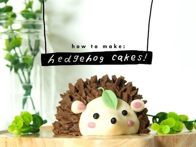 How to make a hedgehog cake | vegan