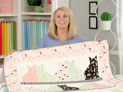 How to make a quilt sleeve to display a quilt.