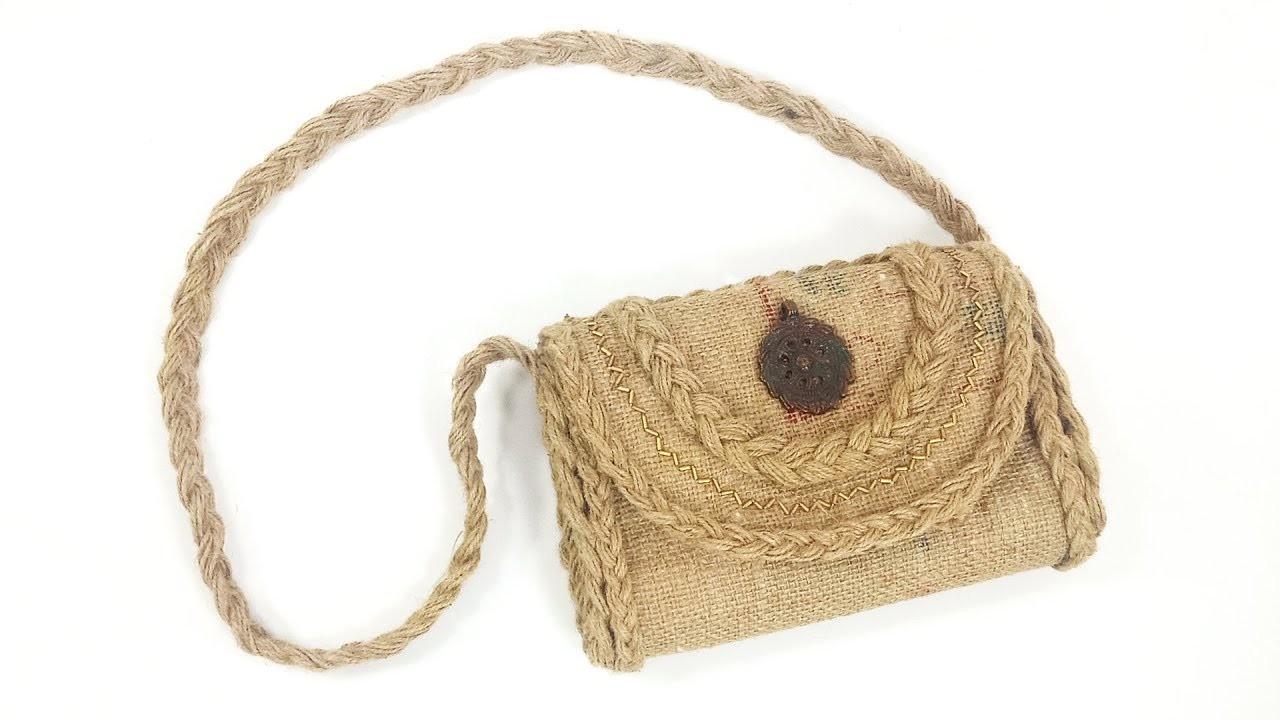 How to Make Jute Bag | Jute Craft | Crafts Junction