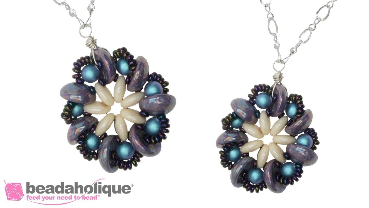 How to Make the Piggy Pinwheel Necklace with Czech Glass 2-Hole Beads