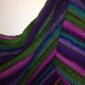Martha's Vineyard Asymmetrical Triangle Shawl Scarf Knitting Pattern