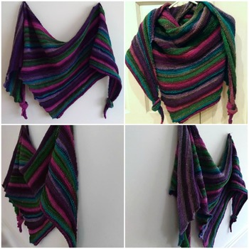 Martha's Vineyard Asymmetrical Triangle Shawl Scarf Knitting Pattern