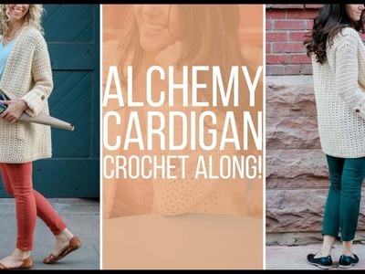 Join The Alchemy Cardigan Crochet Along with Make & Do Crew and Love Crochet