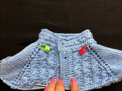 Knitting Cardigan  Neck with cable