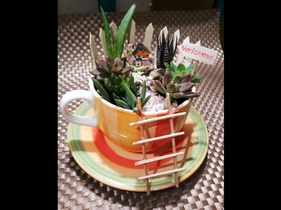 #miniature #Teacupgarden #fairygarden #DIY_Teacup_garden