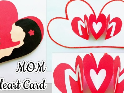 Mother's Day Pop Up Heart Card.Heart Card for Mom.Handmade Mother's Day Card for Kids.Mom Card