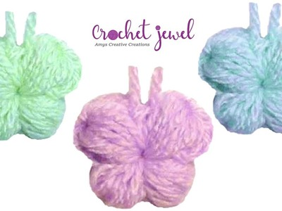 Puff Stitch Crochet Butterfly Tutorial - Crochet Jewel