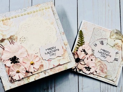 Shabby Chic Mini Album and Easel Card for Mother's Day