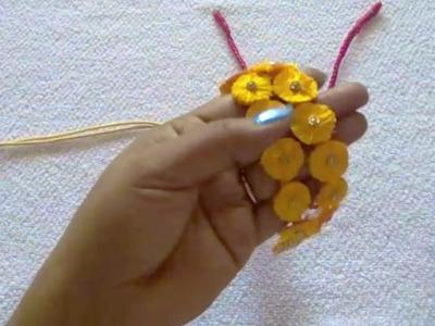 Silk Thread Flower Necklace Making