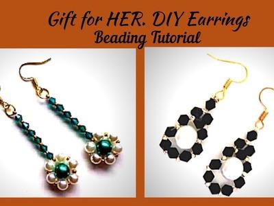 Simple patterns for DIY Earrings. DIY Gift for HER