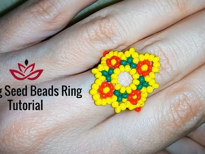 Spring Seed Beads Rings - Tutorial. How to Make DIY Seed Beads Ring?