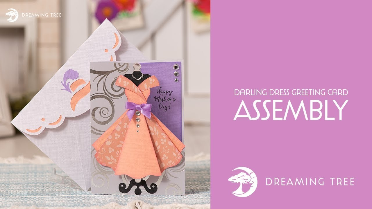 SVG File - Darling Dress Greeting Card - Assembly Tutorial
