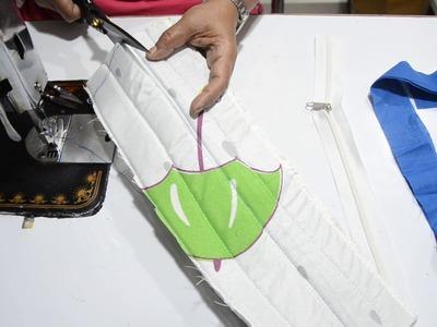 स्क्वायर शेप का बैग सबके लिए बनायें.HOW TO MAKE SQUARE SIDE BAG AT HOME