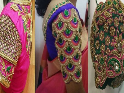 Top 20 wedding Collection Maggam Work Back Neck Blouse Designs  | Maggam Work | Aari work | Designs