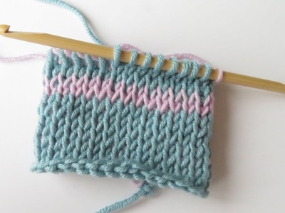 Tunisian Crochet Knit Stitch in the Round