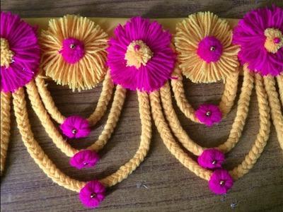 Woollen Craft Idea | Door Toran Making With Wool | DIY