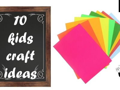 10 kids craft ideas with paper   | origami | paper diys easy for kids | useful things with paper