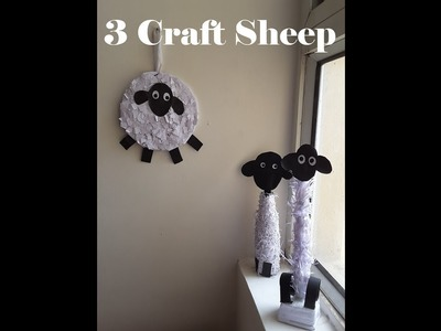 3 Cute #DIY Craft Idea with #Sheep | #kids