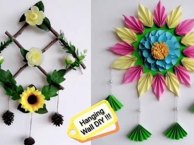 4 Wall hanging craft ideas with paper.cardboard | Beautiful DIY ideas | DIY room decor easy art