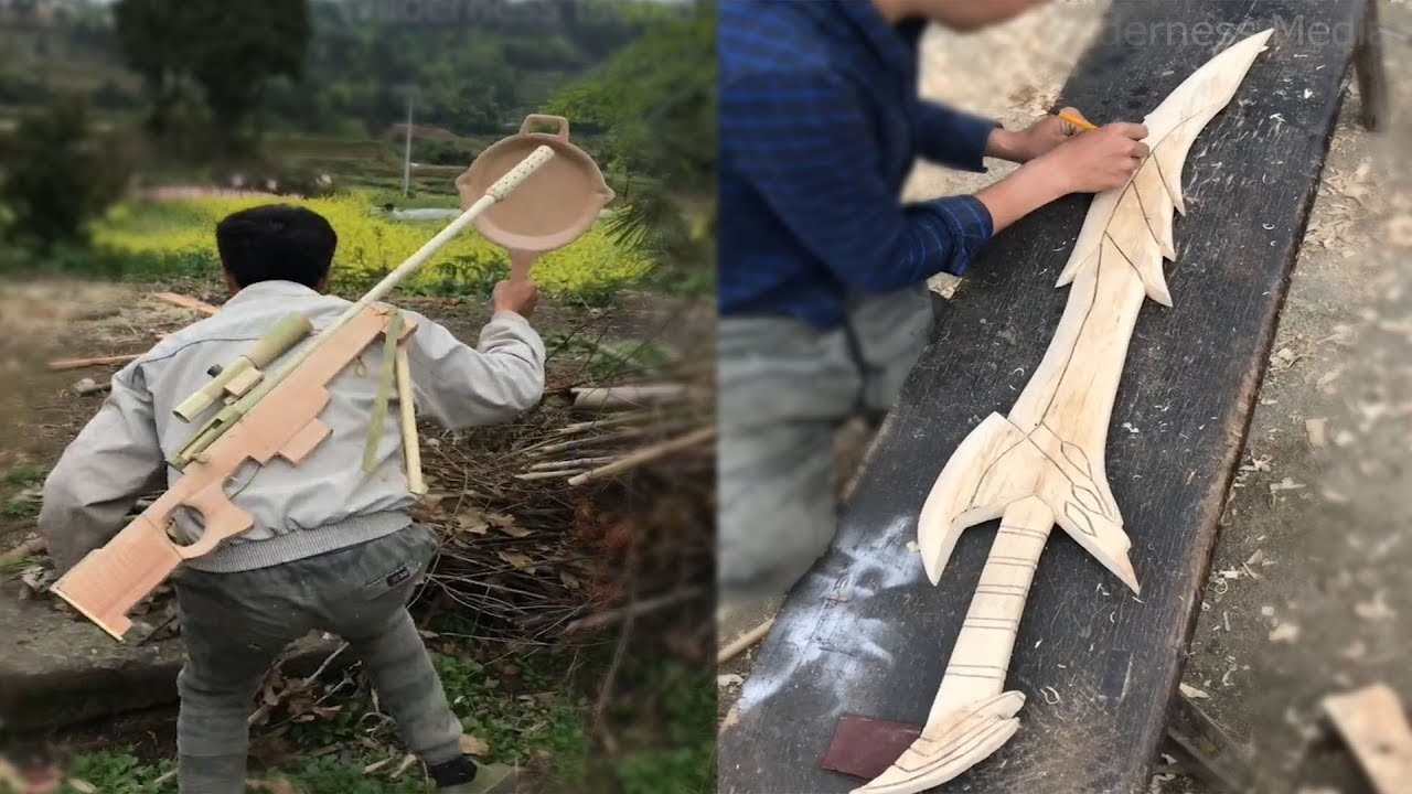 Amazing ideas craft use bamboo, wood make anything like PUBG items, furniture .