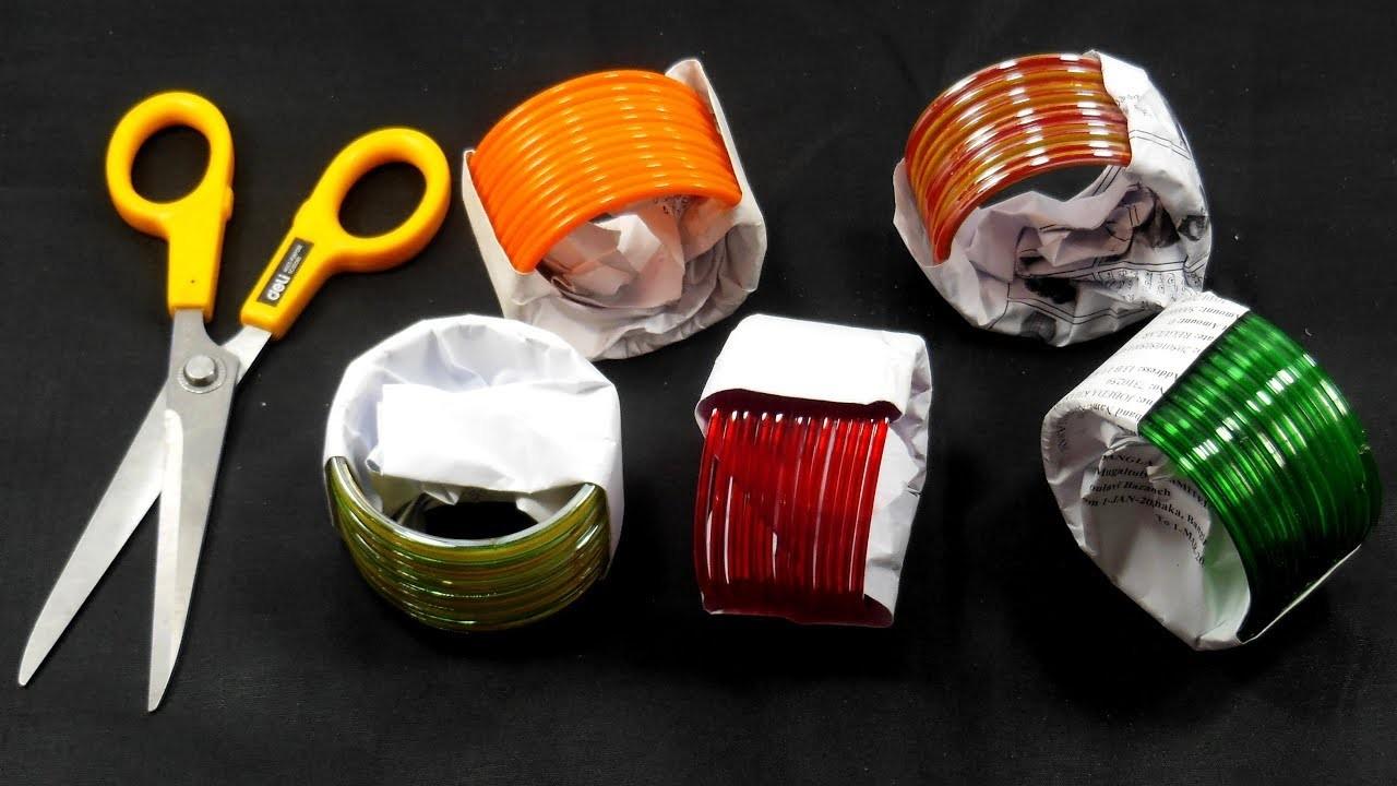 Bangles Craft Idea    DIY Home Decor with bangles    DIY Home Decor