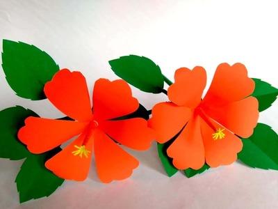 Beautiful DIY paper craft.kaagaj.kaagaz ke phool kaise banaye 17.how to make beautiful paper flower