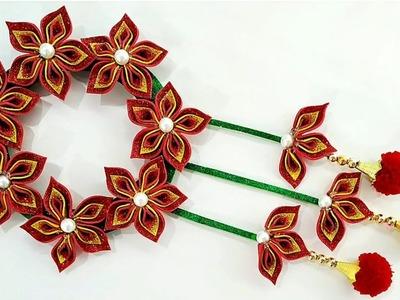 Beautiful Wall Hanging Idea | Easy Home Decor Idea | Flower Wall Decor