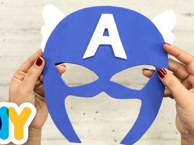 CAPTAIN AMERICA MASK Paper Craft | Fast-n-Easy | DIY Arts & Crafts for Kids