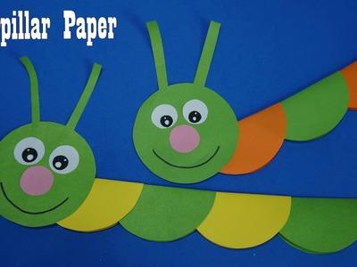 Caterpillar Paper     Caterpillar easy paper craft , Paper Craft For Kids