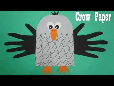 Crow Paper Craft For Kids || easy paper craft ideas Crow , Preschool crafts