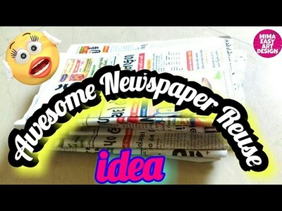 DIY Best out of waste |Newspaper Craft project |Cool craft idea using waste pen cap.west mathi best