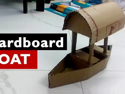 DIY - Boat making with cardboard - Kids Summer Craft ideas from waste materials