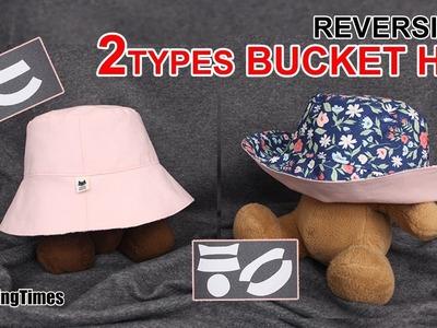DIY Bucket Hat 모자 만들기 | How to make a hat -2 Types Free Pattern #sewingtimes