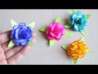 DIY - How To Make Small Paper Rose Flower - DIY Handmade Craft - Paper Craft | mini flower