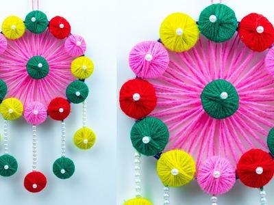 DIY || How to Make Woolen Door Hanging Toran- Woolen Craft Idea - Wall hanging ideas