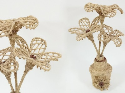 DIY Jute Vase | Jute Craft | Jute Showpiece | Crafts Junction
