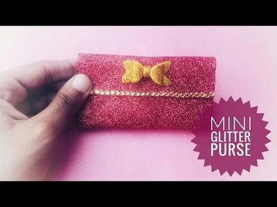 DIY mini glitter purse|Paper purse|Very easy|Prachi art and craft