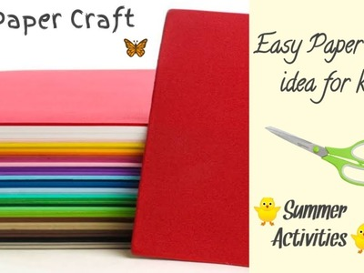 DIY Paper Craft | Easy Paper Craft for kids | summer camp activity