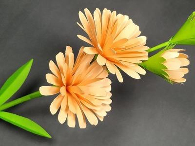 DIY Paper Craft - Very Beautiful Paper Stick Flower Making Idea - Flower - Abigail Paper Crafts