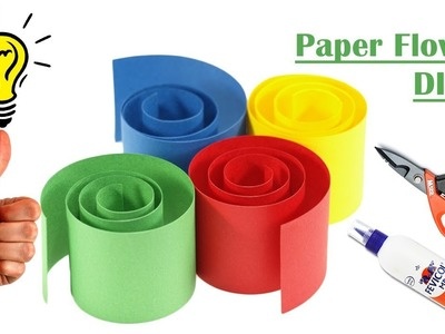 DIY Paper Flower Craft Idea | Paper flowers craft | How to make easy paper flowers