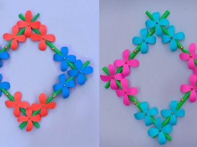 DIY Wall Hanging Paper Flower Craft - Easy Wall Decoration Ideas - Simple Paper craft-Creative Art