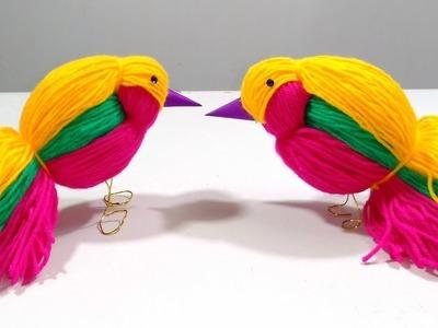 DIY Woolen Brids Making Yarn Bird Craft How To Woolen Brids Making