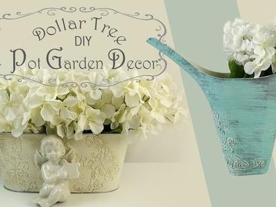 Dollar Tree DIY Pot Garden Decor. Spring Decor