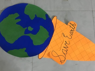 Earth day craft idea. global warming craft idea