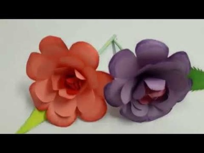 Easy Paper Flower Making | Bellbaby's Craft Centre | Summer Vacation Activities