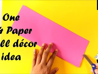 Easy Wall decor idea with one A4 paper | paper craft ideas for room decoration |